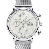 IWC Schaffhausen IW391009 Portofino Chronograph Silver Plated...