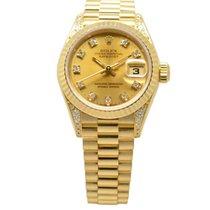 Rolex DateJust 18ct Yellow Gold 26mm Gilt Diamond-Set Dial 69238