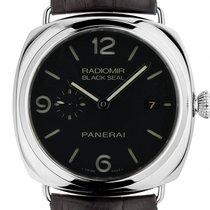 Panerai Radiomir Black Seal Stahl Automatik Armband Leder 45mm...