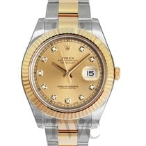 Rolex Datejust II Champagne/18k gold Ø41 mm - 116333