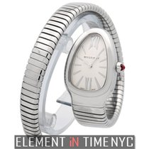 Bulgari Serpenti Stainless Steel Tubogas Silver Dial 23mm Ref....