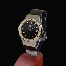 Hublot classic steel and gold men size quartz