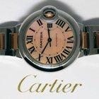 Cartier Ballon Bleu 18k Rose Gold & Steel 33mm MOP Dial...