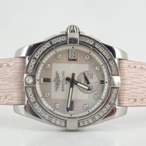 Breitling Galactic 36 MOP diamond dial and diamond bezel (full...