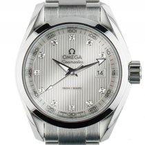 Omega Seamaster Aqua Terra 150m Stahl Quarz Diamond Armband...