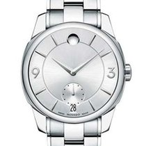 Movado LX Mens Dress Watch - Silver-Tone Dial - Steel Case and...