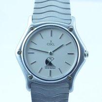 Ebel Classic Wave Herren Uhr 34mm Quartz Stahl/stahl Mit Stahl...