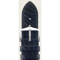 Hirsch Uhrenarmband Leder Highland schwarz M 04302050-2-12 12mm