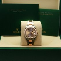 Rolex Pink Gold Domed Bezel, Pink Champagne Dial, Diamond
