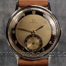 Omega Large 37 Mm Vintage 1940`s Ref. 1130 Steel Watch Cal. 265