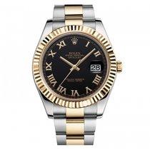 Rolex [NEW] Oyster Perpetual Datejust II 116333 Black Roman