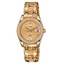 Rolex Datejust 34mm 18K Yellow Gold Factory Diamonds Watch