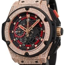 Hublot King Power UEFA Rose Gold Diamond Set Watch 716.OM.1129...