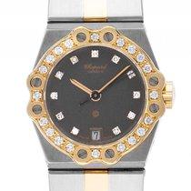 Chopard St. Moritz Stahl Gelbgold Diamond Quarz Armband Stahl...