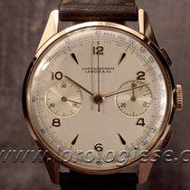 Lebois Vintage 1940`s Xl 18kt. Red Gold Chronograph Cal....
