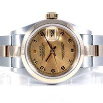 Rolex Ladies Datejust SS/YG Champagne Arabic 69163