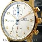 IWC Portuguese Collection Chronograph 18k Rose Gold Silver...