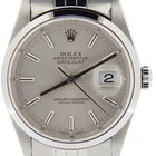 Rolex Datejust With A Silver Dial 16200
