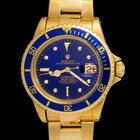 Rolex Submariner In Gold Blue Navy Dial