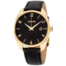 Nixon A47351300 Mixed Watch Quartz Analog Black Leather Strap
