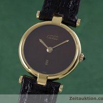 Cartier Lady Must De Vermeil Ronde Damenuhr Design Klassiker