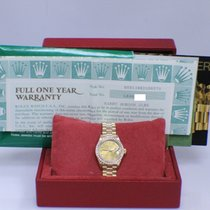 Rolex Ladies President Crown Collection YG Factory Diamond