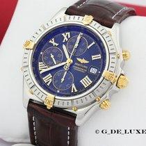 Breitling Windrider Crosswind Stahl Gold Herrenuhr B13055