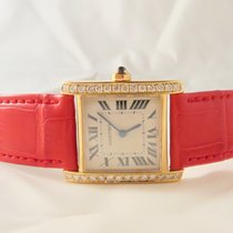 Cartier Tank Francaise 18k Yellow Gold Aftermarket Setting