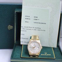 Rolex President 18K Yellow Gold Original Diamond Dial & Bezel
