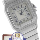 Cartier Santos Galbee Ivory Stainless 29mm Quartz Watch 987901