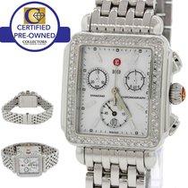 Michele Deco MOP Chronograph Steel Diamond Bezel 33mm Watch