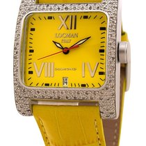 Locman Diamond Quadrato Yellow Dial Yellow Leather Ladies Watch