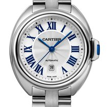 Cartier Clé De Cartier Stainless Steel White Automatic