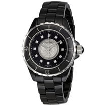 Chanel J12 Black Dial Ceramic Diamond Ladies Watch