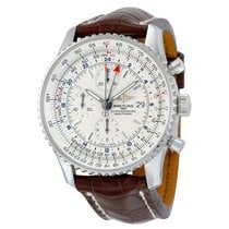 Breitling Navitimer World Automatic Silver Dial Men's Watch
