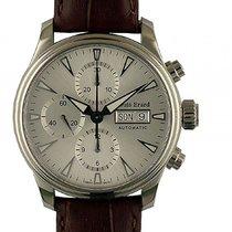 Louis Erard Heritage Stahl Chronograph Day Date Automatik 40mm