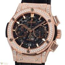 Hublot Classic Fusion Aero Cronograph 18K King Gold Diamonds...