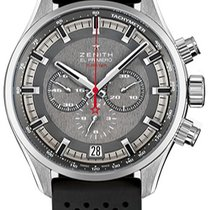 Zenith El Primero Sport Grey Dial 45mm Watch with Rubber Straps