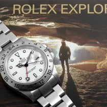 Rolex Mens Stainless Steel Explorer II - White Dial - 16570