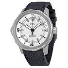IWC Aquatimer Silver Dial Black Rubber Men's Watch