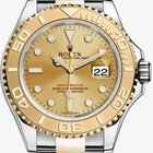 Rolex Yachtmaster SS & 18kt Yellow Gold Champagne Dial