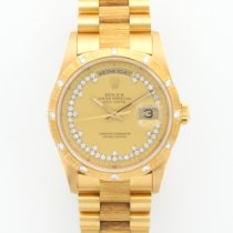 Rolex Yellow Gold Day-Date Diamond Bark Ref. 18308