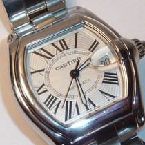 Cartier Roadster SS Auto Date Watch Ref 2510 with Cartier SS Band