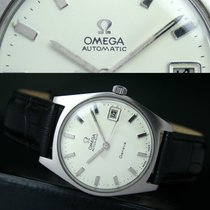 Omega Geneve Automatic Quick Date Steel Mens Watch Ref. 166.041