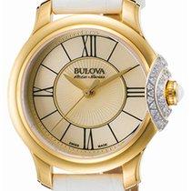 Bulova Accu Swiss Bellecombe Gold Plated Steel & Diamond...