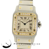 Cartier Santos Quartz Steel & 18k Yellow Gold With Custom...