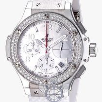 Hublot Big Bang 41mm Steel Diamonds Rubber