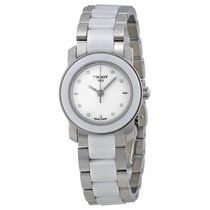 Tissot T-Trend Cera White Ceramic Diamond Ladies Watch...