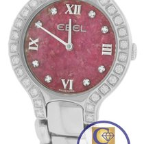 Ebel Beluga 27mm Pink Stone E9157428-20 Diamond Stainless Quartz