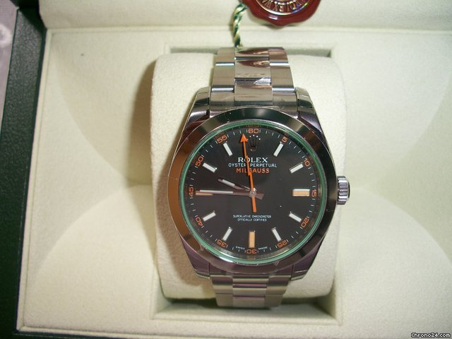 Rolex milgauss vetro verde